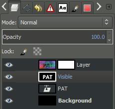 GIMP layer palette copy
